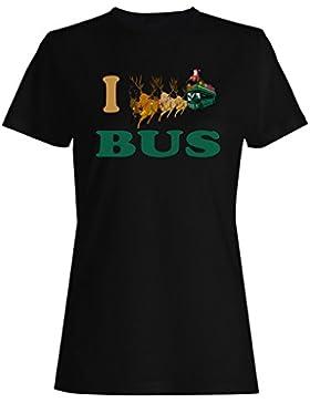 Amo conductor de autobús divertido vintage arte ciudad camiseta de las mujeres yy67f