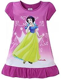 Girls Disney Princess Character Nightie Nightgown Pyjamas Nightdress 90% Cotton