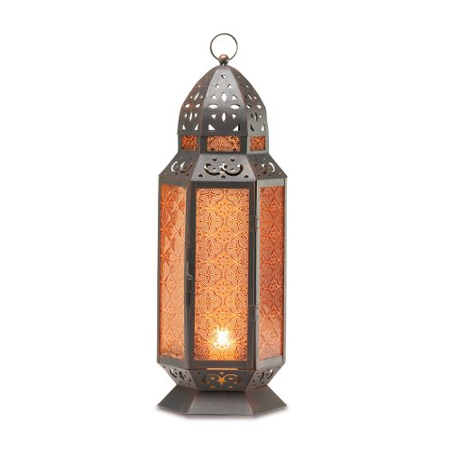 TALL MOROCCAN-STYLE CANDLE LANTERN -