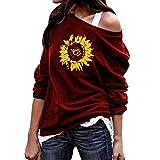 AG&T Tunique Femme T-Shirt Chemise Élégant Vintage Manches 3/4 Chic Fleur Motif...
