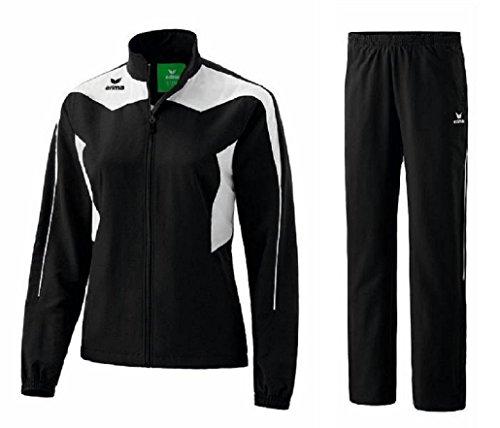 Erima Shooter Trainingsanzug Damen Präsentationsanzug Jogger Jogginganzug (44, Black/White)