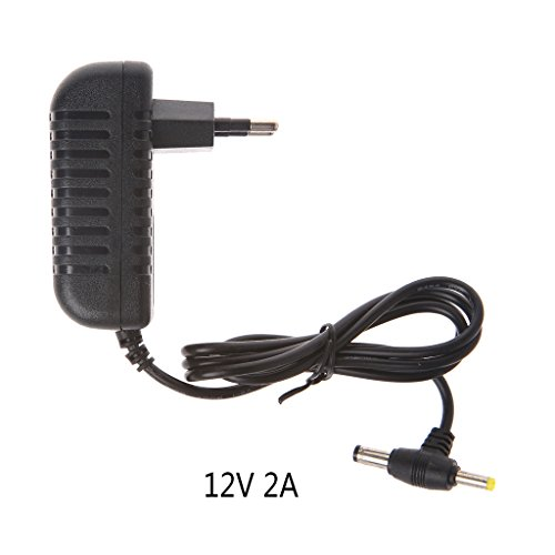 Jenor 12 V 2 A AC Konverter Adapter DC 5,5 x 2,1 mm + 4,0 x 1,7 mm Netzkabel EU Stecker -