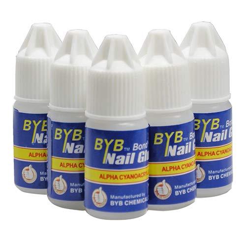 yibenwanligod 5 Stück Transparenter Nagelkleber DIY Decor Acryl Tips Maniküre Werkzeug für Strass Nagelsticker falsche Spitzen