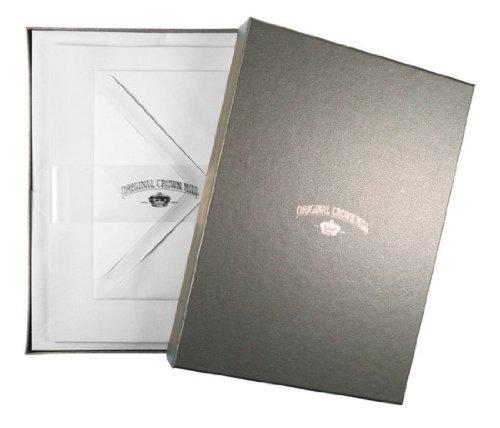 original-crown-mill-a5-silver-line-feuilles-et-enveloppes-en-papier-verge-blanc-lot-de-25