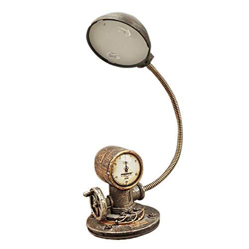 Mini LED-Tischlampe Dekoration Vintage Industrial Steam Nacht Leuchten Kreatives Harz Eisen Anti-Rost Verursacht Weniger Müdigkeit Studienzimmer Bekleidungsgeschäft Kaffee Zimmer