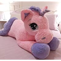 MPR Enterprises - Pink Big Size Unicorn Teddy Bear for Kids, Girls & Children Playing Toys in Size of 75 cm Long