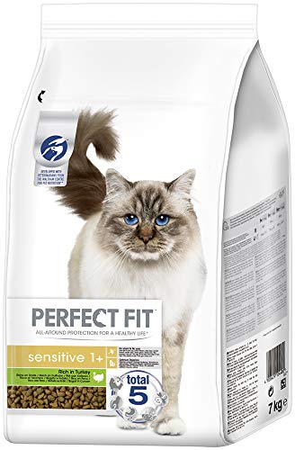 Perfect Fit Katzenfutter Trockenfutter Sensitive Adult 1+ Reich an Truthahn, 1 Beutel (1 x 7kg)