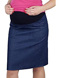 Mija - UmstandsRock mit Bauchband/sportlich Denim Jeans 3047