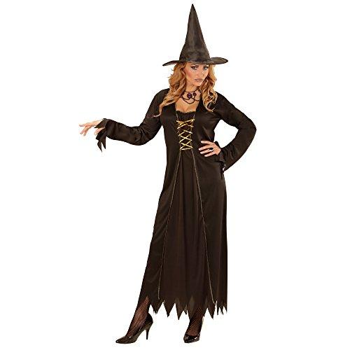 Imagen de disfraz de bruja para adulto widmann, vestido con sombrero de bruja alternativa