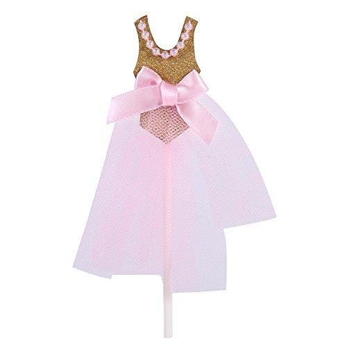 Cupcake Topper Kuchen Dekoration für Kinderfeste und Geburtstagsparty Rosa Prinzessin Rock 10Pcs (Prinzessin Kuchen Dekoration)