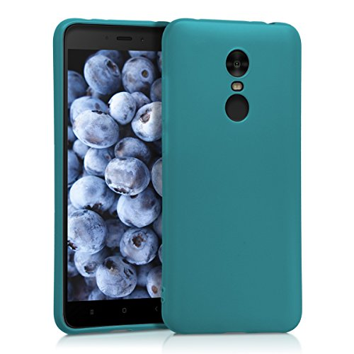 kwmobile Funda para Xiaomi Redmi 5 Plus/Redmi Note 5 (China) - Carcasa para móvil en TPU Silicona - Protector Trasero en petróleo Mate