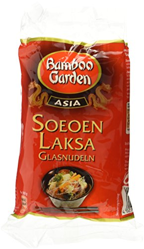 Bamboo Garden Soeoen Laksa Glasnudeln 100g, 4er Pack (4 x 100 g)