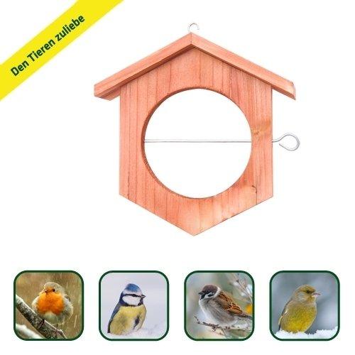Gardigo Apfel Futterstation Meisenknödelhalter Futterhalter aus Holz - 4