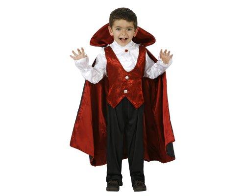 Atosa-95281 Halloween Disfraz Vampiro 3-4, Color Rojo, 3 a 4 años (95281)