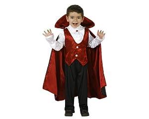 Atosa-95284 Halloween Disfraz Vampiro, Color rojo, 10 a 12 años (8.42226E