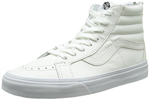 Vans Sk8-hi Reissue Zip, Unisex-Erwachsene Hohe Sneakers, Weiß (premium Leather/true White/black), 39 EU