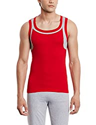Euro Mens Cotton Vest (890397840419_Gv 9_X-Small_Red)