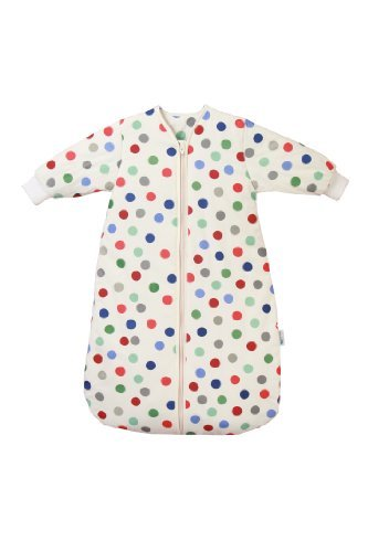 Baby Bubble-outfits (lumbersac Winter Travel Baby Sleeping Bag Long Sleeves approx. 3.5 Tog - Bubble Dot - 0-6 months)