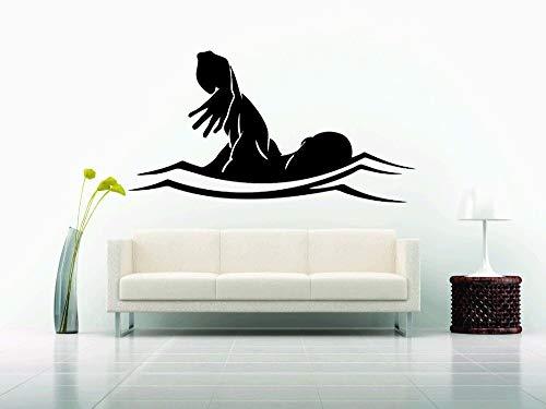 haochenli188 56x88cm Wand Dekor Vinyl Aufkleber Aufkleber Schwimmen Schwimmer Team Sport Hobby Wasser Pool -