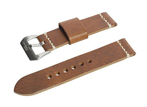 24mm-antique-tan-full-thickness-italian-leather-watch-band-with-satin-finished-stainless-steel-buckl
