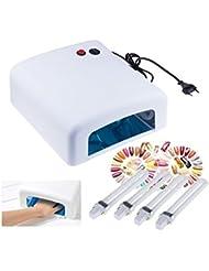 Coscelia Pro 36W Blanc UV Lampe Sèche Gel Séchoir Durcissement+4 Ampoules Kit