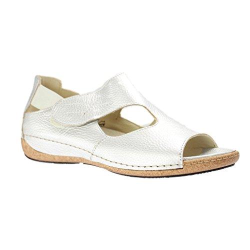 WALDLÄUFER - Heliett - Damen Sandalen - Grau Schuhe in Übergrößen Grau
