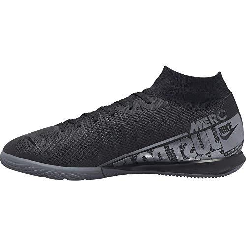 Nike Unisex-Erwachsene Superfly 7 Academy IC Fußballschuhe, Mehrfarbig (Black/MTLC Cool Grey-Cool Grey 001), 44.5 EU