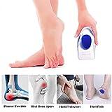 Silicone Gel Heel Cups Blue & Silicone Heel Cushion Inserts for Plantar Fasciitis