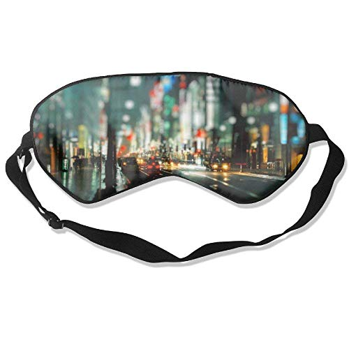 Light And Shiny Green London Street 99% Eyeshade Blinders Sleeping Eye Patch Eye Mask Blindfold For Travel Insomnia Meditation - London Street Lights