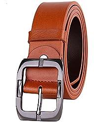 SAMGU Hommes Femmes Mode ceinture de cuir pour Jeans Real Leather Couples Belt