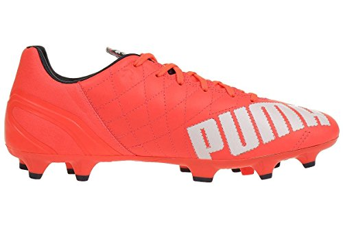 Puma  evoSPEED 3.4 Lth FG, Chaussures de Football Compétition homme lava blast-white-total eclipse 01
