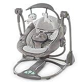 GZ Baby-Elektrischer Schaukelstuhl-Einzelner Arm-Elektrischer Schaukel-Musik-Schaukelstuhl 0-3 Jähriges Baby,Grau,1