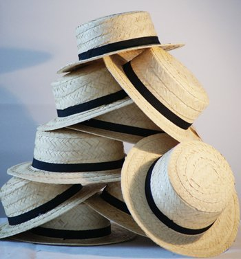 Dance Show-Historic Days STRAW BOATER 10 HATS Bulk Buy Discounts by CRAZYLADIES COSTUMES (Crazyladies Kostüme)