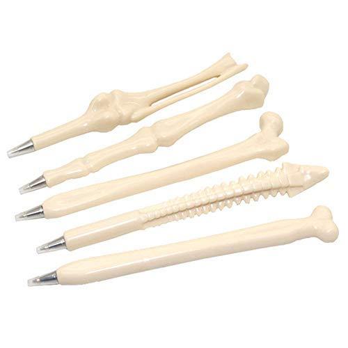 Allbusky Neuheit Knochen Form Kugelschreiber 0.7mm Blau Tinte für Ärzte Krankenschwestern Medics Geschenk Schule Büro Schreibwaren Set von 5