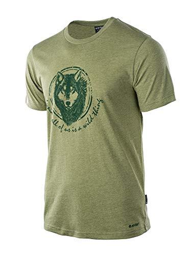 Hi-Tec Herren Lupus T-Shirt, Green Melange, M