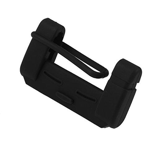 VORCOOL Cubierta de la hebilla del cinturón de seguridad del coche Accesorio de la correa de cinturón de seguridad del estuche de silicona (negro)