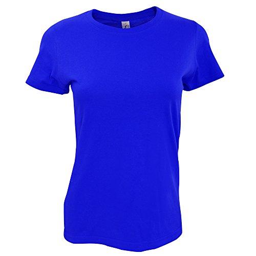 SOLS Imperial Damen T-Shirt, Kurzarm, Rundhalsausschnitt Ultramarin