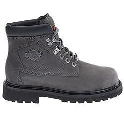 harley davidson bayport ladies leather lace up ankle boots grey - 41nzdiDMjiL - Harley Davidson BAYPORT Ladies Leather Lace Up Ankle Boots Grey