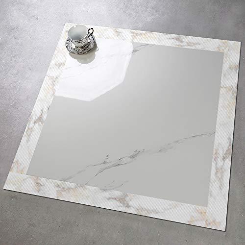 APSOONSELL 5 m moderne Tapetenbordüre Rolle, wasserdichte Bodenfliesen Aufkleber für Küche Badezimmer Fliesen Dekor 5cmx500cm Marmorweiß