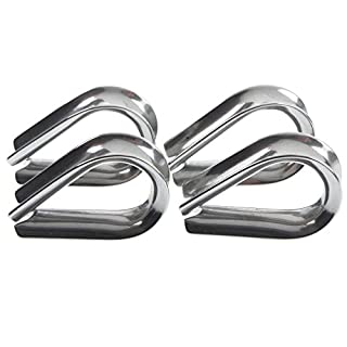 AISI 316 Marine Grade Stainless Steel Wire Thimbles Rope Thimbles 6mm x 4