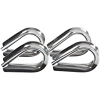 4 x Stainless Steel - 3mm Wire/Rope Thimbles