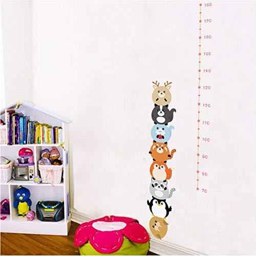 Eeemmm Waldtiere Höhe Maß Wandaufkleber Für Kinder Schlafzimmer Kindergarten Höhe Herrscher Wachstum Chart Raumdekoration Poster 150 * 40 Cm (Wachstum Chart Herrscher)