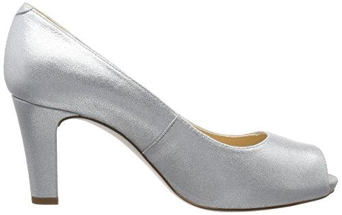 Unisa Nazo_17_Mts, Escarpins Bout Ouvert Femme Argent (Silver)