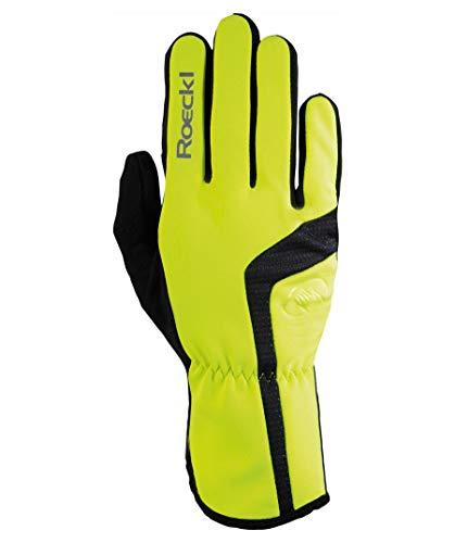 Roeckl Reinbek Winter Fahrrad Handschuhe lang neon gelb: Größe: 9.5