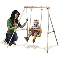 Smoby-310046 Columpio Metal Baby Swing, 120 x 124 x 120 cm (310046)