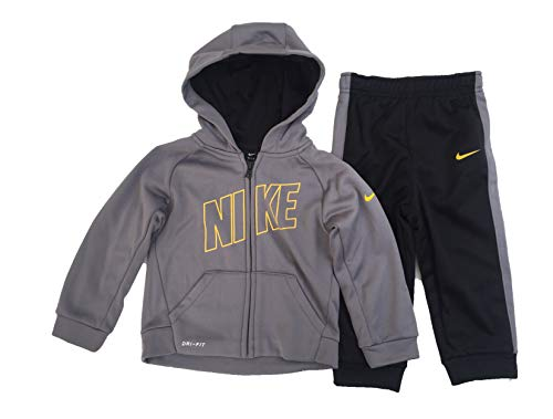 Nike Baby Jacke Trainingsanzug Hose Outfit Set, Jungen, Cool Grey(66D749-023)/Yellow, 24 Monate - Nike Activewear