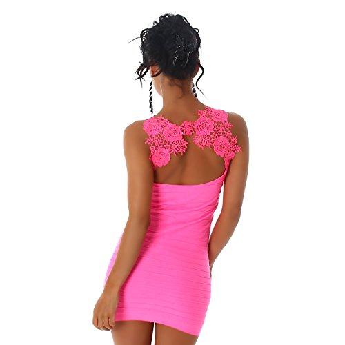 Jela Londres Mesdames Minidress Longtop Robe chemise extensible Rose