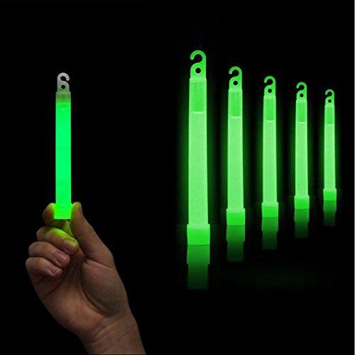 wanshop 5PCS Premium Bright Green Glow Sticks Fluoreszierendes Neon Party Hot Geschenk