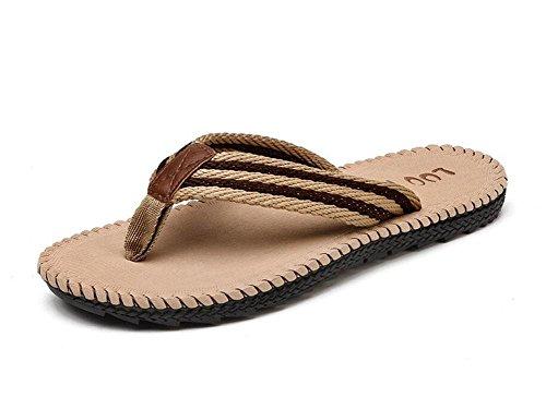 SHIXR Pantoufles Open Back pour hommes 2017 Summer Beach Tones Drag Leisure Fashion - Sandales imperméables résistant à l'usure Super-Grip Brown