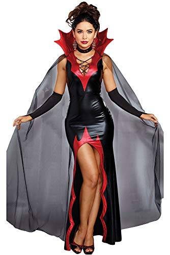 Für Immer Junge Deluxe Damen Vampir Kostüm Adult Halloween Kostüm Kostüm Party Kostüm UK 14 EU 42 (Adult Kostüm Party)